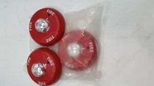 Lot Of 3 1 New 2 Used System Sensor Scr Ceiling Strobe Fire Alarm Red