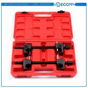 2pc Coil Spring Compressor For Macpherson Struts Shock Absorber Car Garage Tool
