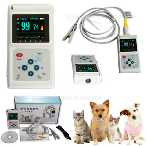 Oled Veterinary Pulse Oximeter Ear Clip Spo2 Probe Pet Pulse Oxygen Saturation