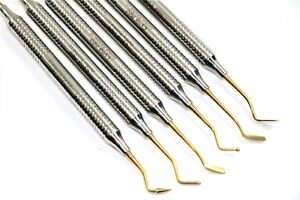 German Dental Light Wt Titanium Coated Restorative Composite Filling Instruments