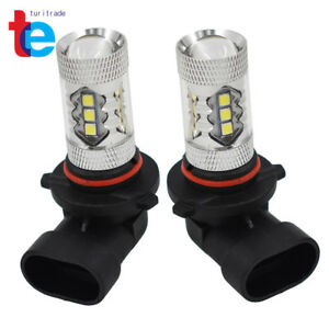 For Chevrolet Silverado 2003 06 Fog Lights 6000k White 80w Led Bulb H10 9145