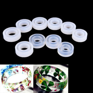 Transparent DIY Silicon Round Ring Mold Mould Jewelry Making Tool Resin moldeQY