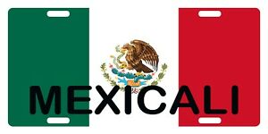 Mexico Flag Mexicali License Plate Emblem