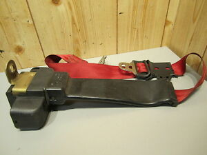 Ford Mustang 1990 1991 1992 1993 Left Rear Seat Belt Red
