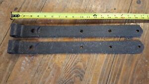 Antique 18 1 2 Heavy Hand Forged Barn Strap Hinges Beautiful