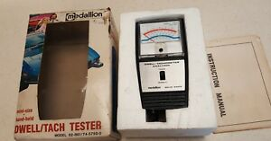 Vintage Tach Dwell Tester 62 861 Medallion Hand Held