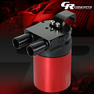 Red Aluminum Baffled Engine Oil Catch Can Reservoir Tank 2 Port 3 4 Od 240ml