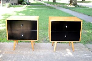 Pair Of Paul Mccobb Planner Group Cabinets Nighstands Chests Only Winchendon