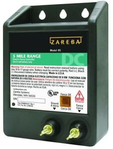 Zareba 5 mile Battery Operated Heavy Duty Solid State Fence Charger Digital New