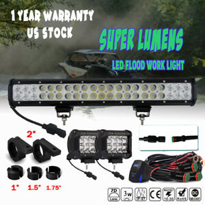 For Toyota Tundra 20 Led Light Bar W tube Clamp Roof Roll Cage Holder Brackets