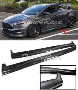 For 13 up Ford Focus St Rs Carbon Fiber Side Skirts Hatchback Bottom Molding Lip
