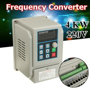 220v 4kw Output Single Phase Variable Frequency Converter Drive Inverter Vfd