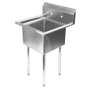 Stainless Steel Utility Sink For Commercial Kitchen 23 5 Wide
