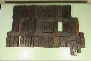 Wm H Page Letterpress Block French Clarendon Wood Type 4 7 8 Inch Lowercase