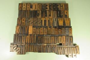 Letterpress Blocks No 506 Printing Wood Type 2 Inch Uppercase Lowercase