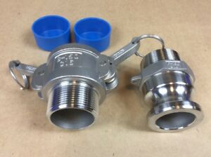 Dixon 150 b ss 150 f ss Stainless Steel 316 Cam Lock Fitting 1 1 2 New