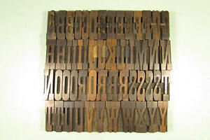 Antique Belgian Wood Type Letterpress Blocks 2 1 2 Inch Uppercase Caps