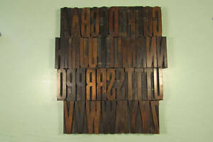 Antique Gothic Letterpress Blocks Wood Type 3 Inch Uppercase Caps