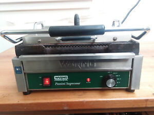 Waring Wpg250 Panini Supremo Grooved Top Bottom Panini Sandwich Grill