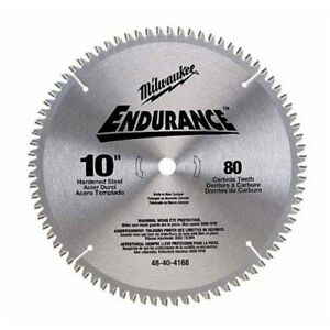 Milwaukee 48 40 4168 10 Non ferrous Metal Cutting Circular Saw Blade