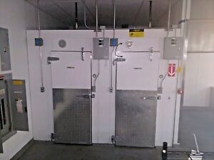Walk In Cooler Freezer Combination Storage With Refrigeration Includes Condenser