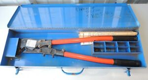 T b Thomas Betts Tbm5 Wire Cable Ratcheting Crimper With Metal Case Die