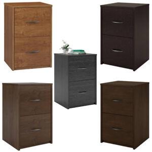 File Cabinet Small Filing 2 Drawer Vertical Letter Decorative Home Office Wood