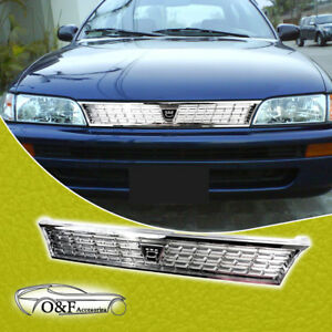 For 1993 1997 Toyota Corolla Grille Ae101 Jdm Chrome Grill With Logo