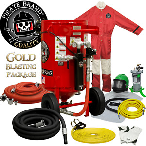 Empire Style Abrasive Blast Pot Sandblasting Machine Gold Package 6 5 Cu Ft