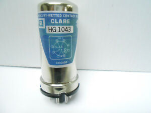 Hg1043 C p Clare Mercury Wetted Contact Relay Tube Base 1 Kilohm 16 9 Vdc Nos