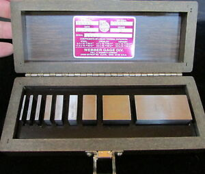 Starrett Webb Nine Piece Square Gage Block Set Model Ss9a1 Grade 2