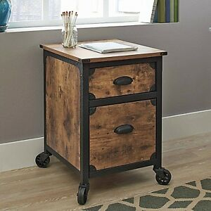 Rustic Filing Cabinet 2 Drawer Rustic Wood Storage Home Office Furniture