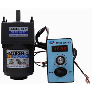 Mini Gear Reducer Motor Speed Control 220v 25w For Conveyors General Machinery