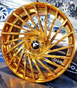 21 22 Forgiato gold Ventoso Ecl Concaved 3 piece Wheels Corvette C7 Stingray