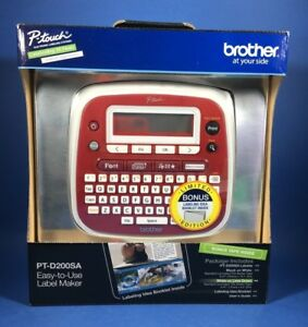 Brother P touch Easy to use Label Maker Pt d200sa Limited Ed w bonus Tape Tze