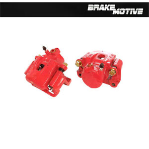 Front Red Powder Coated Brake Caliper Pair For 1995 2004 Toyota Tacoma Rwd