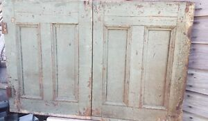 Vintage Antique Old Salvaged Rustic Doors Reclaimed Mantle Hutch Early Century