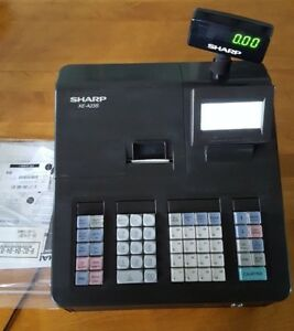 Sharp Xe a23s Electronic Cash Register With Keys And Instruction Manual