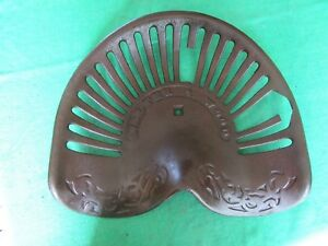 Antique Cast Iron Tractor Seat Rare Style Walter Wood Has Damage Lot 18 28 25