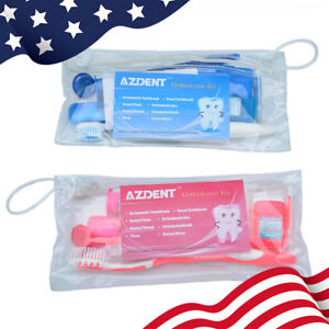 Usps Azdent Dental Teeth Oral Cleaning Care Orthodontic Kits Brush Floss Thread