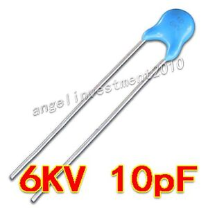 New High Voltage Ceramic Capacitor 6kv10j 6000v 10pf