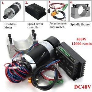 400w Er11 Cnc Spindle Motor Driver Controller Mount For Engraving Machine
