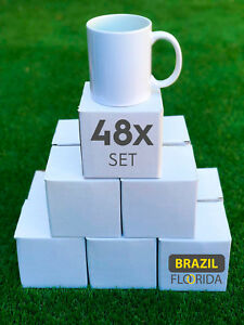 Blank Mugs Aaa 11oz Heat For Sublimation 48 Pieces With Individual Boxes
