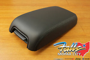 2011 2015 Chrysler 300 Dodge Charger Black Leather Front Armrest Mopar Oem