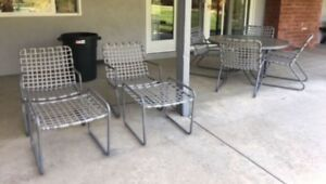 Vintage Brown Jordan Outdoor Patio Furniture Tamiami 11 Pieces Set Lounge Chairs