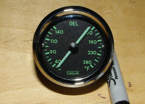 Repro Porsche 356 Pre A Stork Oil Temperature Gauge 6v 12v Temp