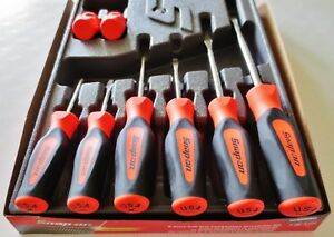 New Snap On Tools 8pcs Orange Instinct Handle Screwdriver Set