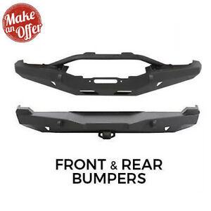 Smittybilt Front W Winch Plate Stinger Rear W hitch Xrc Bumpers For Cherokee