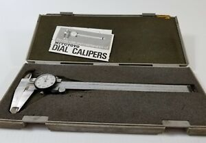 Excellent Mitutoyo 8 Inch Dial Caliper 505 644 50 machinist Tools