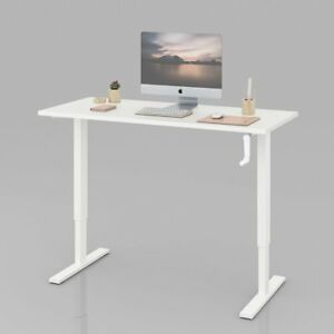 Orford Standing Desk 55 Adjustable Sit To Stand Up Desk With Crank Handle